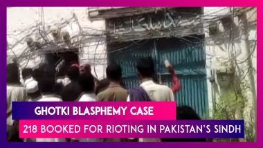Ghotki Blasphemy Case: 218 Booked For Rioting, Vandalising Hindu Temple In Pakistan's Sindh