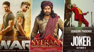 Gandhi Jayanti 2019 Releases: Hrithik Roshan-Tiger Shroff's War, Chiranjeevi's Sye Raa Narasimha Reddy, Joaquin Phoenix's Joker