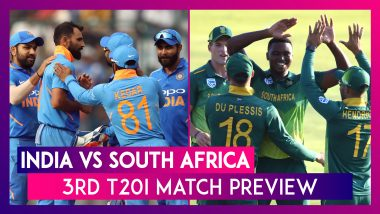India vs South Africa, 3rd T20I 2019 Preview: IND Eye Maiden Home Series Win; SA want Redemption
