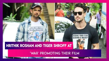 War Actors Hrithik Roshan And Tiger Shroff Take Digs At Each Other With Quirky T-Shirts
