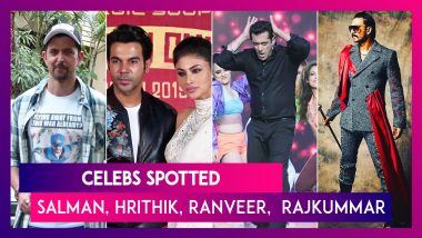 Celebs Spotted: Salman Khan, Hrithik Roshan, Ranveer Singh & Others Seen In The City