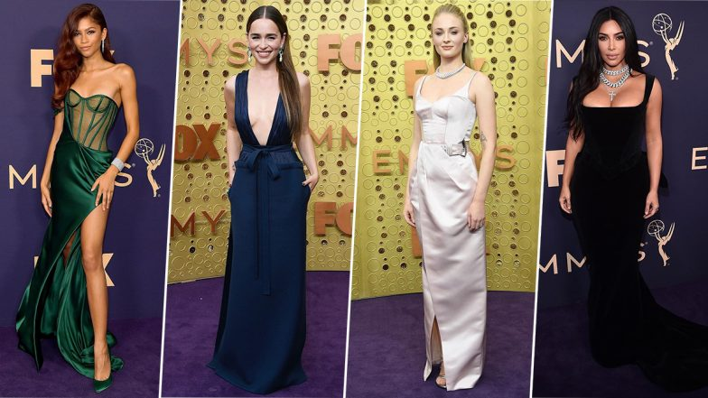 Emmys 2019 Best Dressed:Zendaya, Emilia Clarke and Kim Kardashian Take Home the Trophy for Ruling Purple Carpet this Year (View Pics)