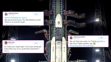 India Stands United with ISRO After Chandrayaan-2 Setback: Inspiring Wishes, Memes, Posts Spread Positivity on Twitter and WhatsApp to Heap Praise on Scientist's Effort