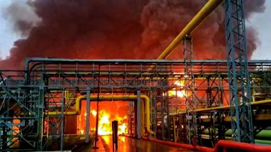 Fire at ONGC Plant in Navi Mumbai: 4 Dead After Massive Blaze Engulfs Oil Processing Plant in Uran