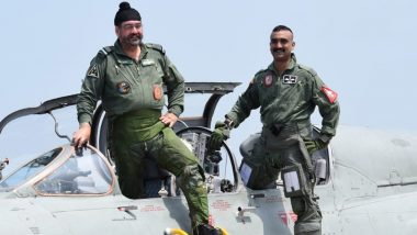IAF Chief BS Dhanoa, Wing Commander Abhinandan Varthaman Fly Sortie in MiG-21 Fighter Aircraft; Watch Video