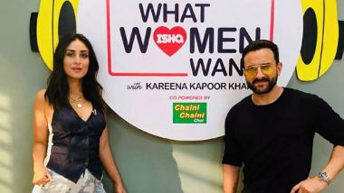 Kareena Kapoor Khan Kickstarts the Second Season of Her Radio Show 'What Women Want' With None Other Than Her Man, Saif Ali Khan (View Pic)