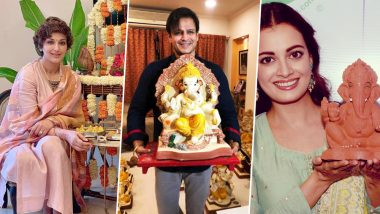 Ganesh Chaturthi 2019: From Sonali Bendre to Dia Mirza, B-Town Celebs Celebrate The Festival With Eco-Friendly Ganpati Idols (View Pics)