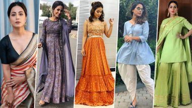 Ganesh Chaturthi 2019: From Palazzo Set to Dhoti Pants, 5 Outfits You Want to Steal From Hina Khan's Closet for Ganeshotsav (View Pics)
