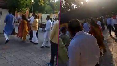Delhi BJP Leader Azad Singh Slaps Wife in Party Office, Loses Post; Watch Video