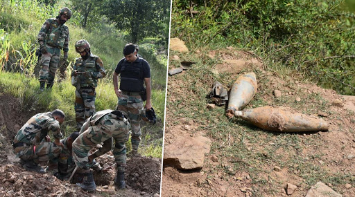Indian Army Destroys 9 Live Mortar Shells in Mendhar Sub-Division of Poonch, Jammu & Kashmir (Watch Video)
