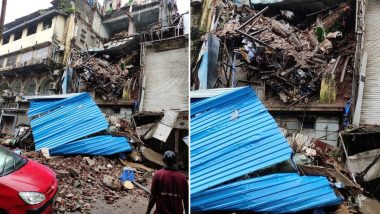 Mumbai Building Mishap: Portion of Four-Storey Building Collapses at Lokmanya Tilak Road Near Crawford Market