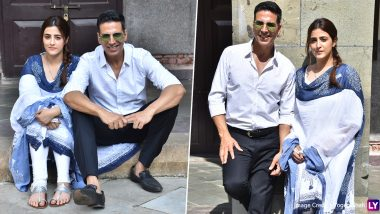 Akshay Kumar and Nupur Sanon Shoot For a Song With 'Kismat' Fame Ammy Virk (View Pics)