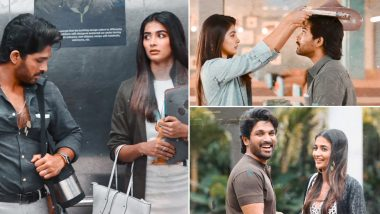 Ala Vaikunthapurramuloo Song Samajavaragamana Highlights Allu Arjun and Pooja Hegde's Romantic Chemistry in Trivikram Srinivas Directorial (Watch Video)