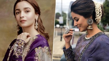 Navratri 2019 Day 8 Colour Purple: Alia Bhatt to Hina Khan, Take Style Cues From These Celebs to Look Ultra Glam