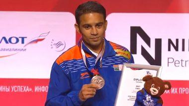Amit Panghal Bags Silver at AIBA World Boxing Championships 2019; Twitter Praises Indian Pugilist for Historic Achievement despite Final Defeat