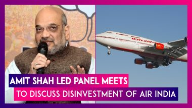Amit Shah Led Panel Meets To Discuss Disinvestment Of Air India