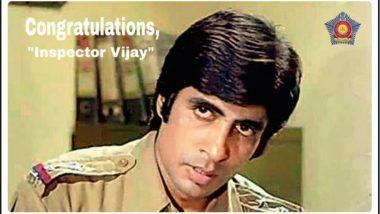 Mumbai Police Salute 'Inspector Vijay' Amitabh Bachchan for Dadasaheb Phalke Award, See Tweet