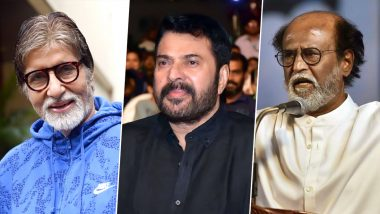 Amitabh Bachchan to Receive Dadasaheb Phalke Award 2019: Mammootty, Rajinikanth and Other South Stars Congratulate Big B on Twitter