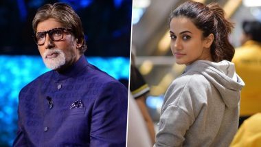 Amitabh Bachchan Calls His Badla Co-Star Taapsee Pannu an 'Accomplished Artist', Says It's Been a Joy Working with Her Again'