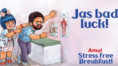Jasprit Bumrah Injury: Amul Shows Concern for The Indian Pacer's Back Problem, Dedicates Topical Ad Saying 'Jas Bad Luck'
