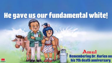 Amul Topical Honours Dr Verghese Kurien, Father of White Revolution on His 7th Death Anniversary With Lovely Ad (View Pic)