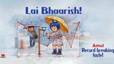 Amul Says 'Lai Bhaarish' as 2019 Marks Mumbai's Wettest Monsoon Ever!