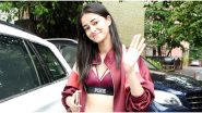 Ananya Panday Looks Super Sexy as She Pairs a Trendy Sports Bra With a Maroon Jacket at Dance Rehearsals (View Pics)