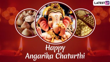Angarki Sankashti Chaturthi 2019 Messages: WhatsApp Stickers, SMS, Ganpati GIF Images, Quotes and Greetings to Wish on the Day Dedicated to Lord Ganesha