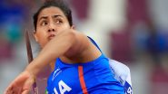 Annu Rani at Tokyo Olympics 2020, Athletics Live Streaming Online: Know TV Channel & Telecast Details for Women's Javelin Throw Qualification Coverage