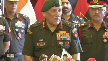 General Bipin Rawat Dismisses Reports of Blanket Communication Blockade in Kashmir, Says 'Communication Breakdown Only Between Terrorists & Handlers in Pakistan'