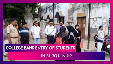 Uttar Pradesh: College Bans Entry Of Students Wearing 'Burqa' In Firozabad