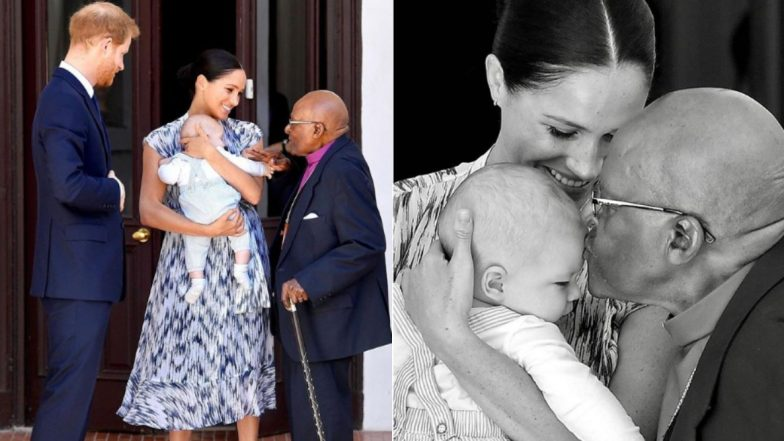Baby Archie Meets Archbishop Desmond Tutu on His First Public Appearance With Meghan Markle And Prince Harry on Africa Tour (See Adorble Pictures)