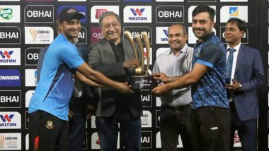 Bangladesh, Afghanistan Share Tri-Nation T20 Trophy as Rain Washes Out Final at Sher-e-Bangla National Stadium in Dhaka