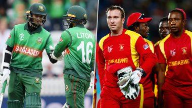 Live Cricket Streaming of Bangladesh vs Zimbabwe 4th T20I on Hotstar & Gazi TV: Check Live Cricket Score Online, Watch Free Telecast of BAN vs ZIM Tri-Nation Series 2019 Match on Star Sports
