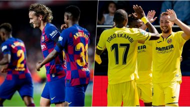 Barcelona vs Villarreal, La Liga 2019 Free Live Streaming Online & Match Time in IST: How to Get Live Telecast on TV & Football Score Updates in India?