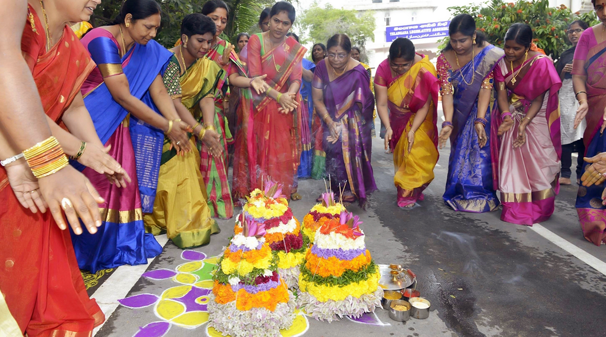 Bathukamma 2019 Dates: Know History, Names of Bathukamma, Significance & Celebrations of the Festival That Coincides With Sharad Navratri