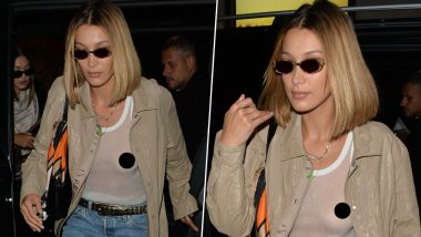 Bella Hadid Exudes Confidence As She Steps Out In A Sheer White Top With Her Bare Essentials On Display - View Pics