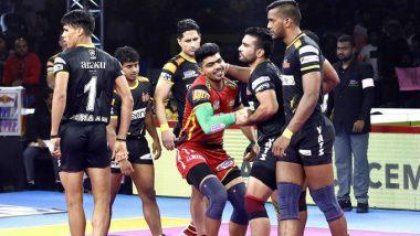 PKL 2019 Match Result: Bengaluru Bulls Ride Pawan Sehrawat Show to Beat Telugu Titans 40-39
