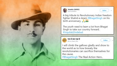 Bhagat Singh Birth Anniversary: Twitterati Pay Tribute to The Revolutionary Freedom Fighter on His 112th Birthday With His Quotes and Images