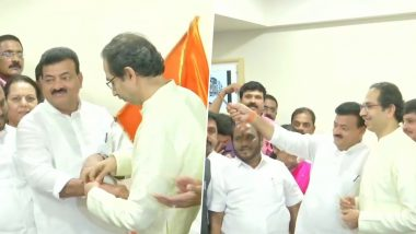 Bhaskar Jadhav Quits NCP to Join Shiv Sena in Presence of Uddhav Thackeray Ahead of Maharashtra Assembly Elections 2019