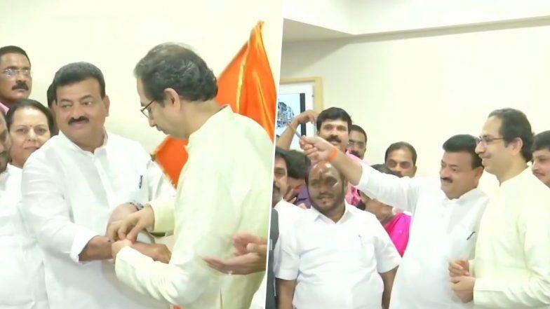Bhaskar Jadhav Quits NCP to Join Shiv Sena in Presence of Uddhav Thackeray Ahead of Maharashtra Assembly Elections 2019