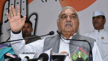 Haryana Assembly Elections 2019: Bhupinder Singh Hooda-Led Panel Recommends Former CM's Name to Lead Congress in Polls