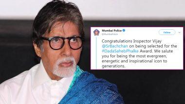Mumbai Police Wishes Inspector Vijay Aka Amitabh Bachchan for His Dadasaheb Phalke Award Win (See Tweet)