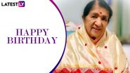 Lata Mangeshkar Birthday: Lag Jaa Gale and Other Songs by the Queen of Melody That Continue to Mesmerise Us!