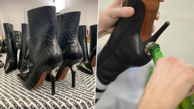 Newly-Introduced Boots Come With a Bottle Opener in The Heels! Fashionable Footwear Wins All Praises (View Pics)