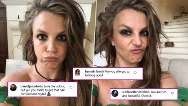 Britney Spears Debuts Dark Hair, Gets Trolled for STILL Not Brushing Her Hair