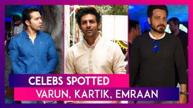 Celebs Spotted: Varun Dhawan, Kartik Aaryan, Emraan Hashmi & Others Seen In The City