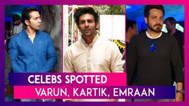 Celebs Spotted: Varun Dhawan, Kartik Aaryan, Emraan Hashmi & Others Seen In The City