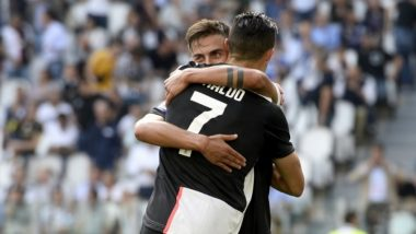 Cristiano Ronaldo Kisses Paulo Dybala During Juventus vs Inter Milan Post-Match Interview; Argentine Player Blushes (Watch Video)