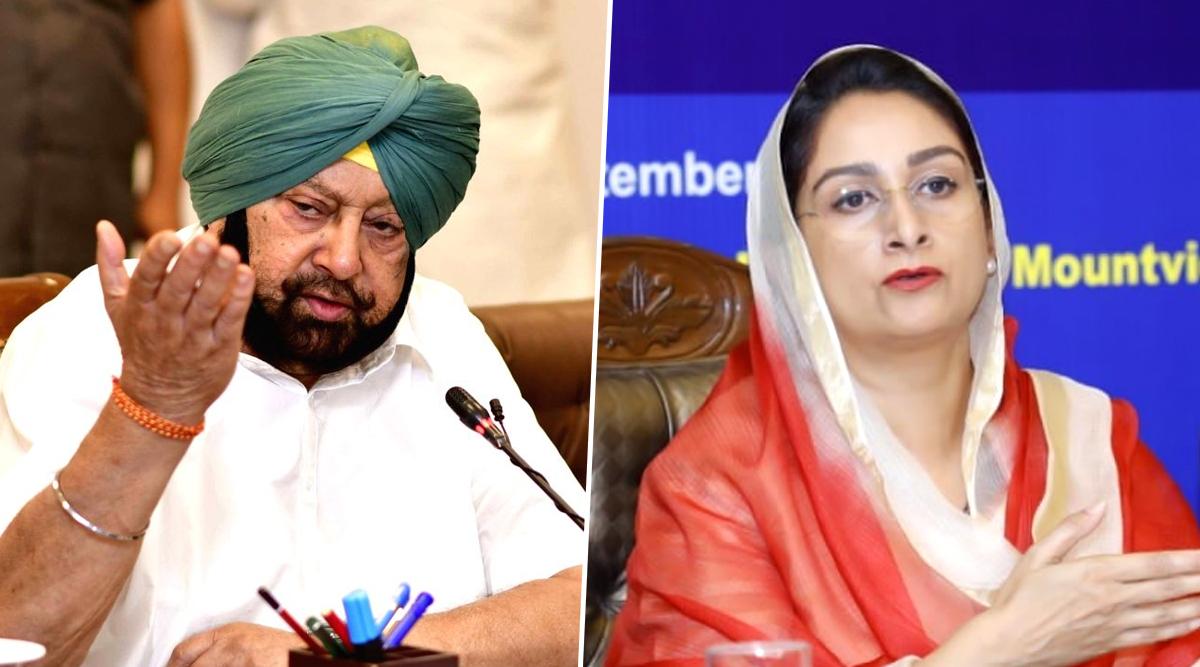Captain Amarinder Singh And Harsimrat Kaur Badal Clash on Twitter, Punjab CM Calls Union Minister 'Dumb'